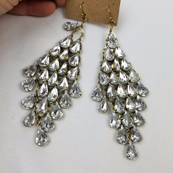 73% off Va et Vien for BHLDN Jewelry - Jeweled chandelier earrings ...