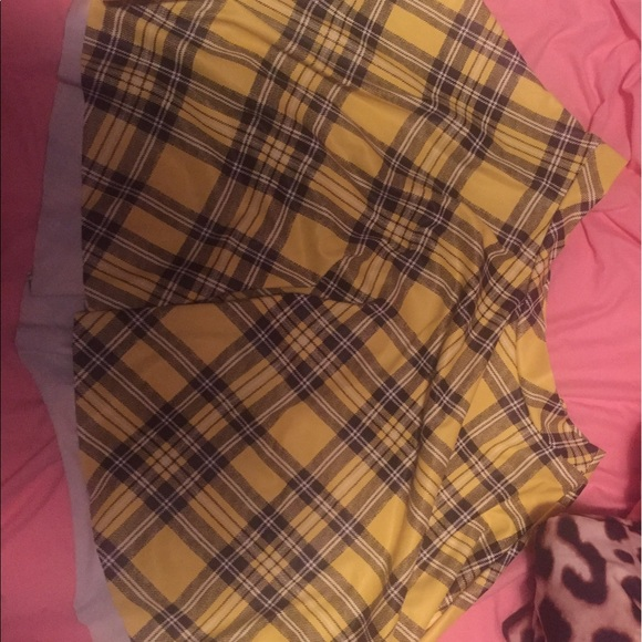 721b3e53d Blackmilk Skirts | Yellow Tartan Skirt Mislabeled Sample | Poshmark