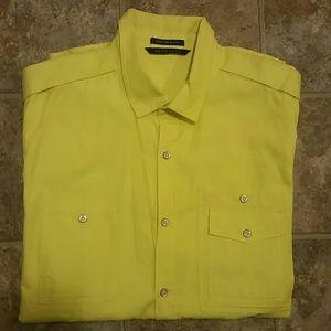 """Bright Yellow Sean John Shirt"" NEW"
