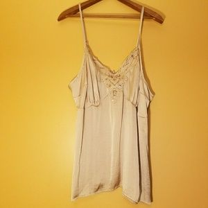Silky sequined tank top