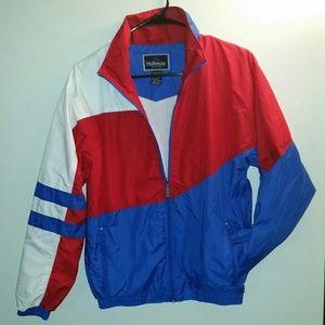 Jackets & Blazers - 🔥vintage 90s red white blue windbreaker 🔥