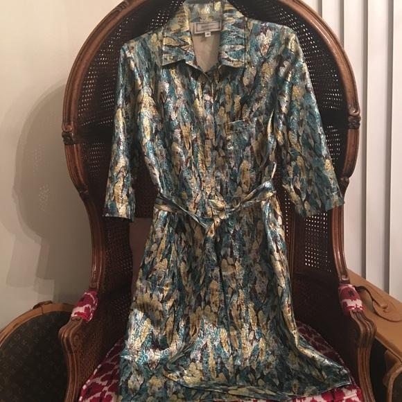 ANNELORE Dresses & Skirts - ⚡️METALLIC shirtdress⚡️