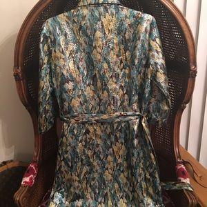 ANNELORE Dresses - ⚡️METALLIC shirtdress⚡️