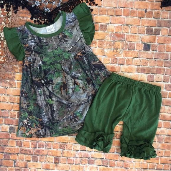 ce61d2b62e7d8 Boutique Girls Pearl top & Icing Shorts Camo Set Boutique