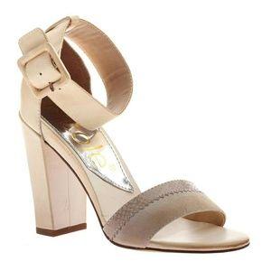 Shoes - Beige Sandal Heel