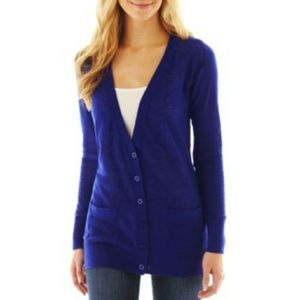 a.n.a. Royal Blue Boyfriend Cardigan
