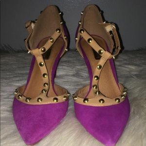 Halogen hot pink studded heels