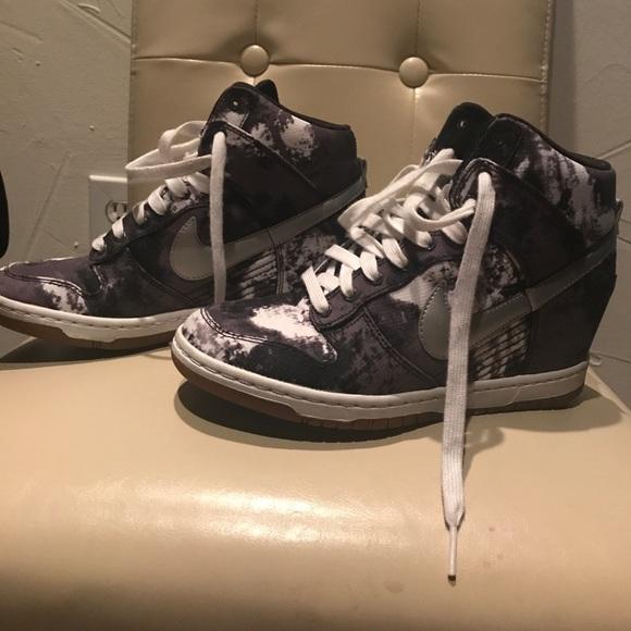 Nike Shoes Rare Sky Hi Dunk Wedge Sneakers 75 Poshmark