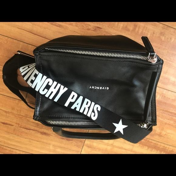 86d856f02eec Givenchy Handbags - Givenchy paris strap black pandora