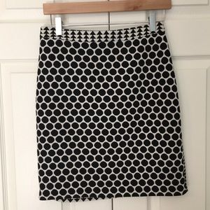 Anthropologie Leifnotes Geo Dot Knit Skirt
