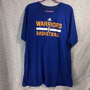 NEW Golden State Warriors Blue Adidas Practice Tee