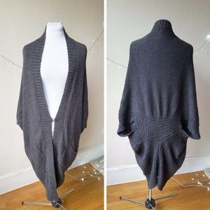 Halogen Alpaca and Wool Extra Long Cardigan