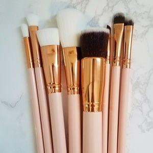 Other - 💖 NEW 8 Pastel Pink & Rose Gold Makeup Brush Set