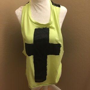 🌈5/$25🌈 Love j Cross  yellow&black m
