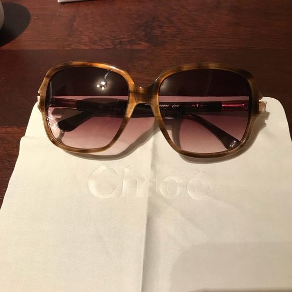 f47de4f33b1a NEW Chloë Women s Sunglasses CL2238 Brown Horn