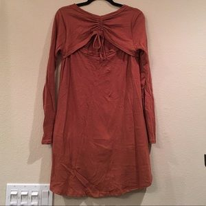 Tunic with Ruched Cut-Out Back