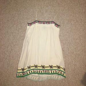IRO mini white silk resort dress