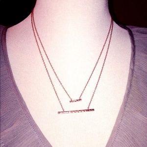 New Gorjana Dual Bar Necklace in Rosegold