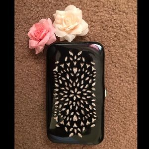 H&M clutch black and gold Girly wallet Boho cute