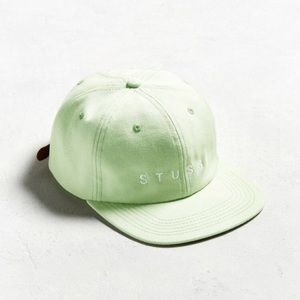 Stussy mint lime green SnapBack baseball hat