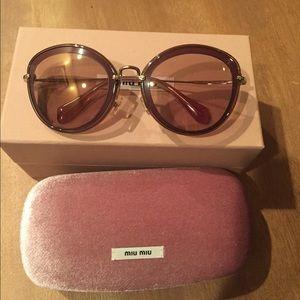 Miu Miu Cat Eye Oversized Bordeaux Sunglasses