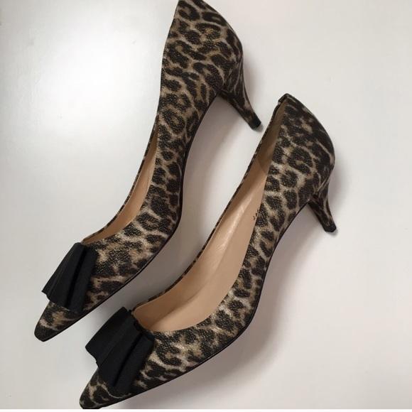 67f15158706 Talbots leopard kitten heel pumps. M 59d5a36d2de512deb80089bd