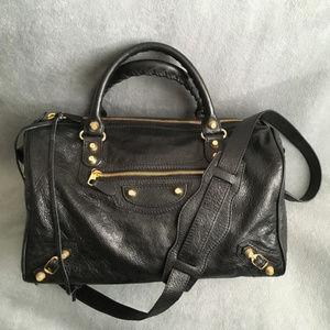NEW Balenciaga Boston Shoulder Bag Satchel Black