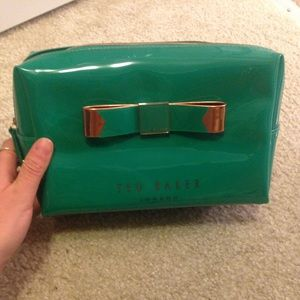 Ted Baker green cosmetic bag