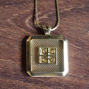 Vintage GIVENCHY 80's Pendant Necklace Gold
