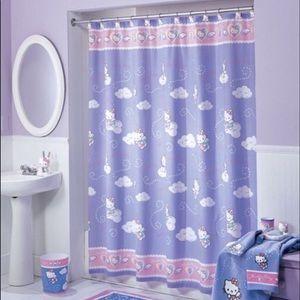 "Hello Kitty ""Sweet Dreams"" Fabric Shower Curtain!"