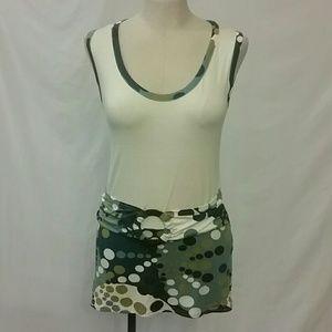 Promod Tank Top Blouse Mini Dress S M