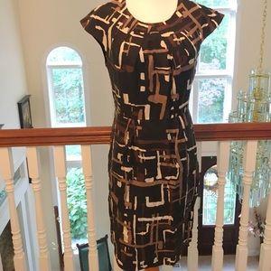 Black and brown sheath dress