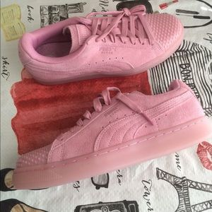 Puma Shoes Womens Suede Jelly Prism Pink Sneakers Poshmark
