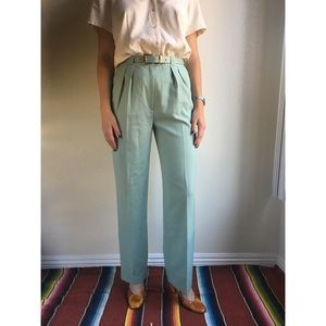 Vintage✨100% wool mint green trousers