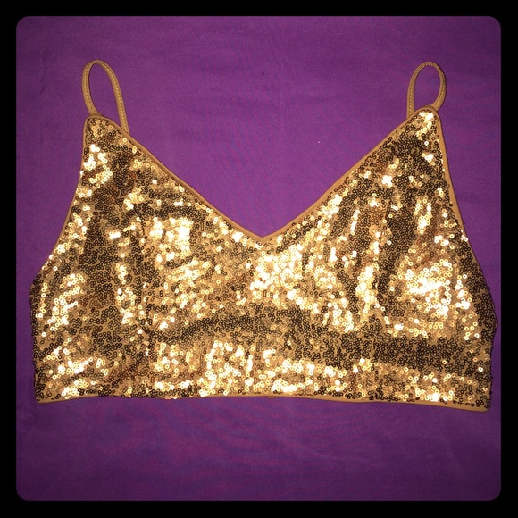 146634d0a24353 Forever 21 Other - Gold sequin bralette