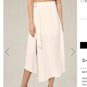 New with tags Bebe Xxs winter white skirt
