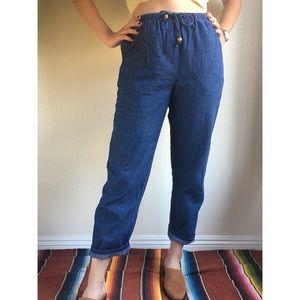 Vintage✨100% cotton chambray jogger pants