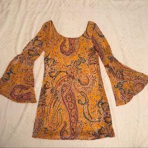 Dresses & Skirts - Bell Sleeve Paisley Dress