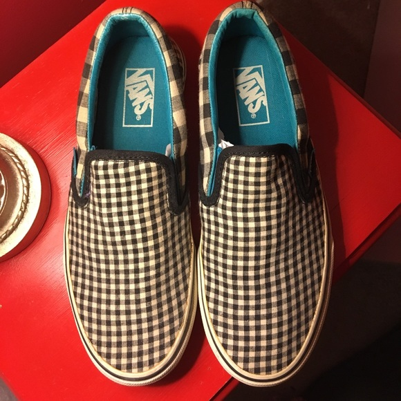 black and white small checkered vans