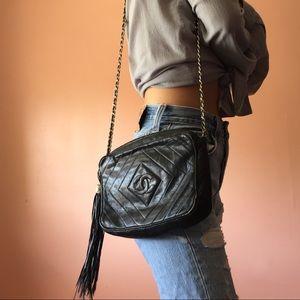 💣HP💣 Vintage Chanel Chevron Crossbody Bag