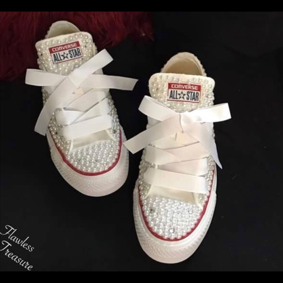 413906653f57 Diamond N Pearl Treasure Shoes ~Flawless Treasure. Boutique. Converse