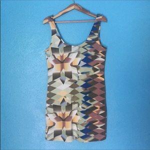 Hurley XL geometric pattern tank dress