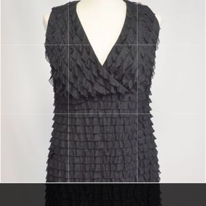 Fashion Bug Black Ruffled Dress Size 1X