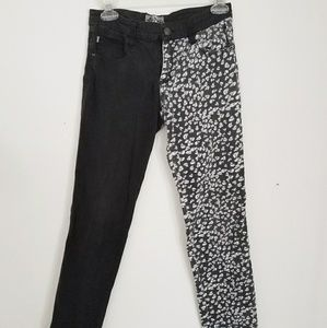 Tripp Hot Topic Skinny Skull Pants Split Half Leg