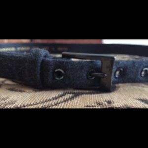 Amanda Smith Grey Wool Belt