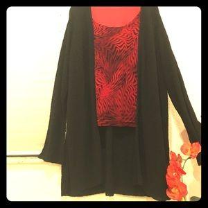 Tops - Plus size Velvet sleeveless top