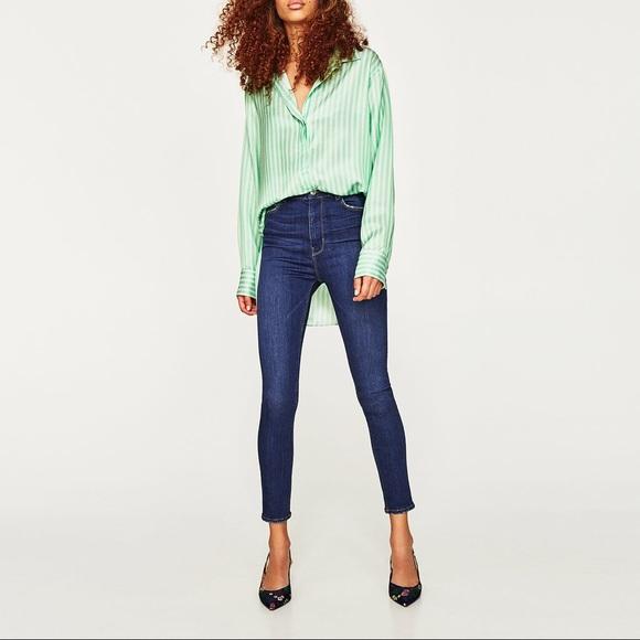 da1dd3ef Zara Jeans | Island Blue High Waisted | Poshmark