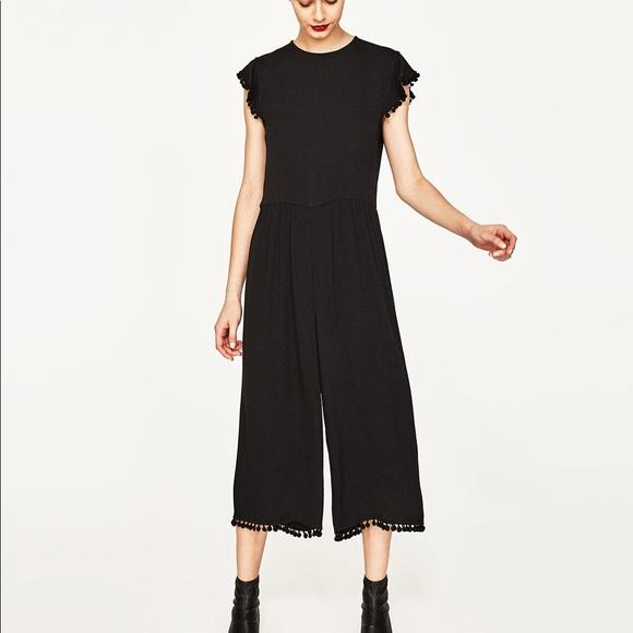 e0473ed87898 Zara black cropped jumpsuit. NWT