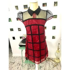 Fire Red Collared Dress