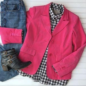 ITW by Claude Brown Pink Velvet Blazer